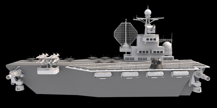 aircraft carrier royalty-free 3d model - Preview no. 3