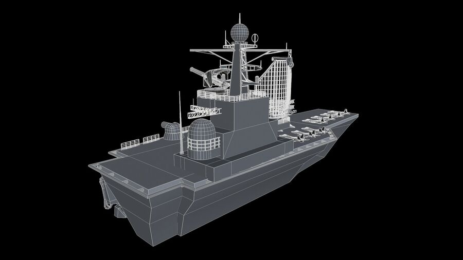 aircraft carrier royalty-free 3d model - Preview no. 8