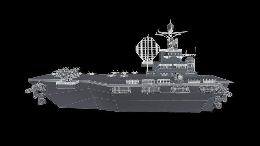 aircraft carrier royalty-free 3d model - Preview no. 6