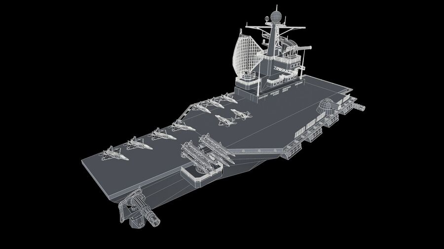 aircraft carrier royalty-free 3d model - Preview no. 5