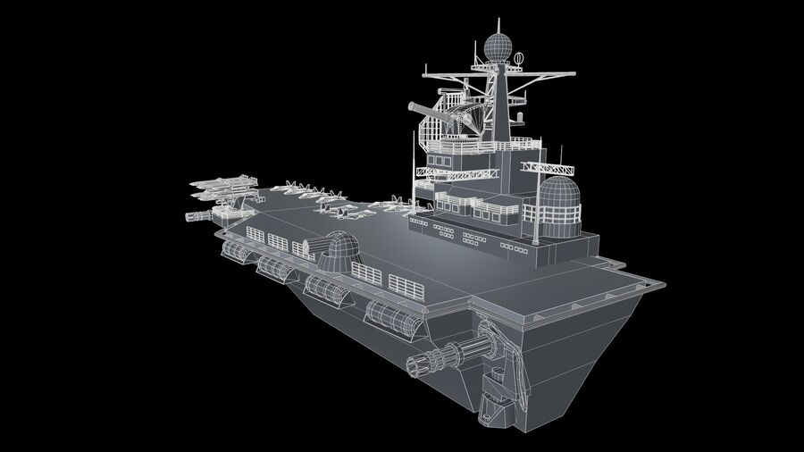 aircraft carrier royalty-free 3d model - Preview no. 7