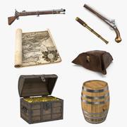 Collection de modèles 3D de trésor de pirate 3d model
