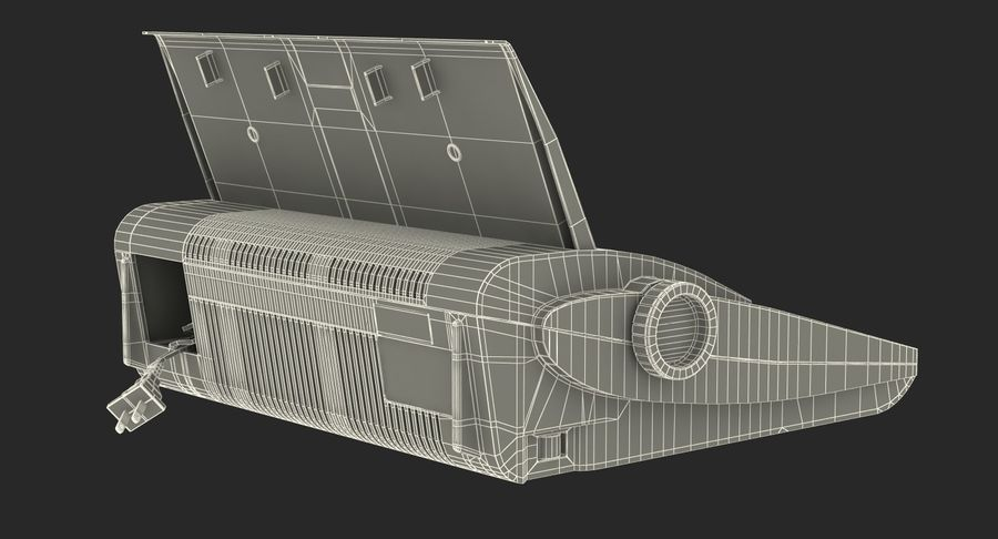 레트로 전자 제품 3D 모델 컬렉션 2 royalty-free 3d model - Preview no. 43