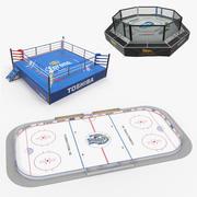 Collezione di modelli 3D di Sport Arenas 3d model