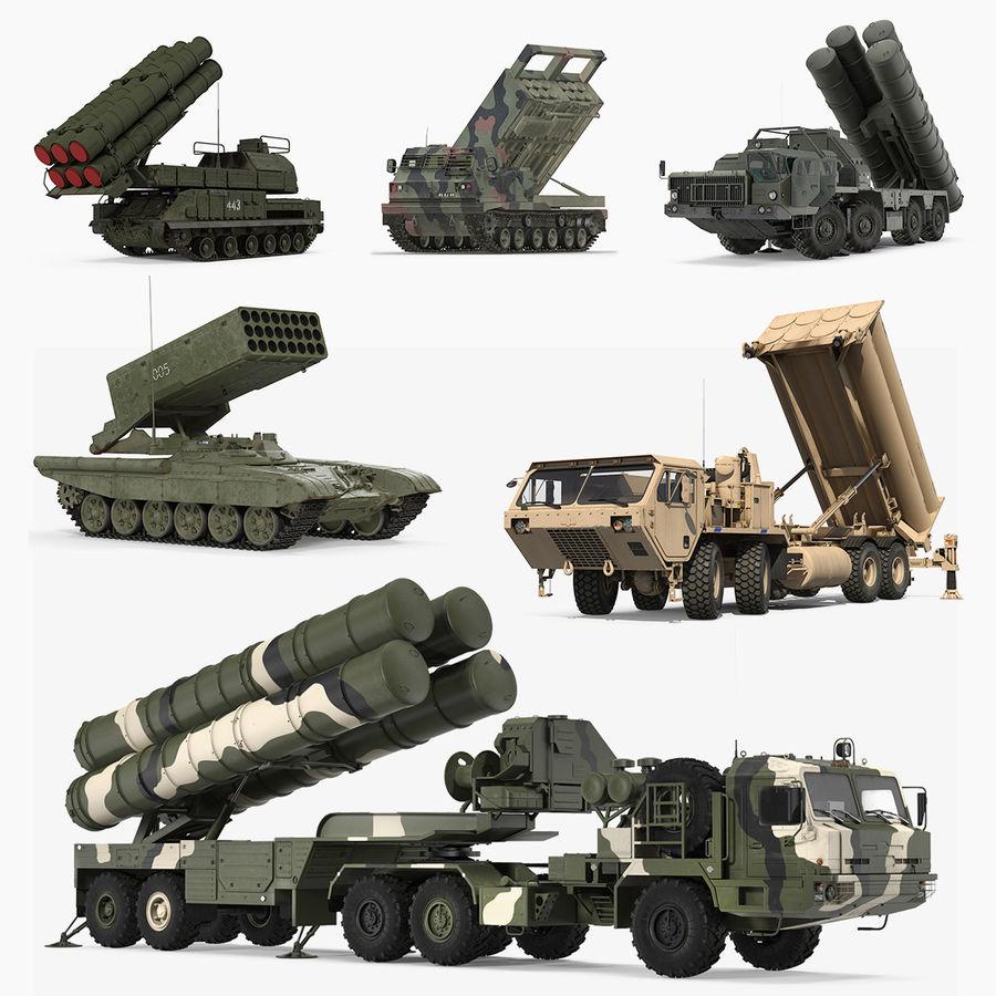 Askeri Roketatar Araçları Arma 3D Model Koleksiyonu royalty-free 3d model - Preview no. 1
