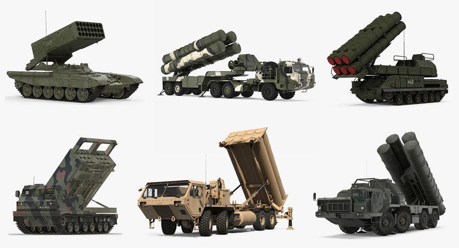 Askeri Roketatar Araçları Arma 3D Model Koleksiyonu royalty-free 3d model - Preview no. 2