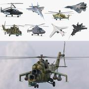 Russische Militärflugzeugsammlung 3d model