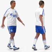 Fotbollsspelare eller fotbollsspelare Dynamo riggade för Maya 3d model