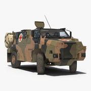 Bushmaster Mpv Haki Rigged 3D模型 3d model