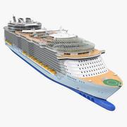 Kreuzfahrtschiff-Oase der Meere manipuliert 3d model