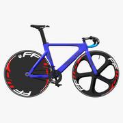 Blue Track Bike Dolan DF4 Carbon Rigged 3D Model 3d model