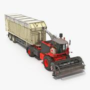 Kombinera med Harvester Trailer Generic 3D-modell 3d model