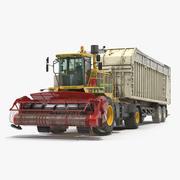 Kombinera CMC Saturne 5800 med Harvester Trailer 3D-modell 3d model