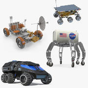 Rigged Space Vehicles 3D 모델 컬렉션 2 3d model