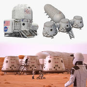 Space Bases Collection 3d model