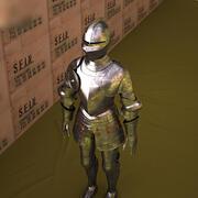 Armure de plaques 3d model