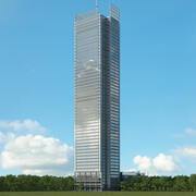Budynek New York Times 3d model