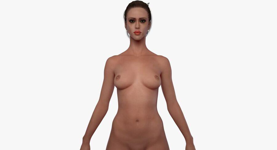 Een vol gevormd lichaam helemaal naakt