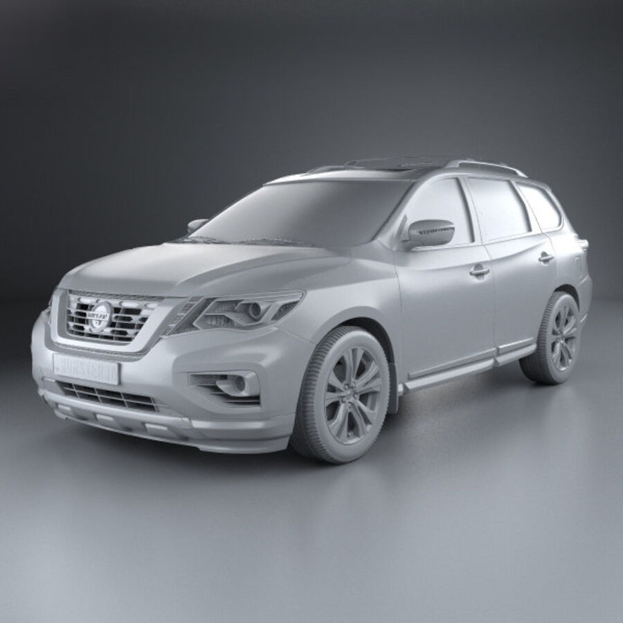Nissan Pathfinder 2017 royalty-free 3d model - Preview no. 11