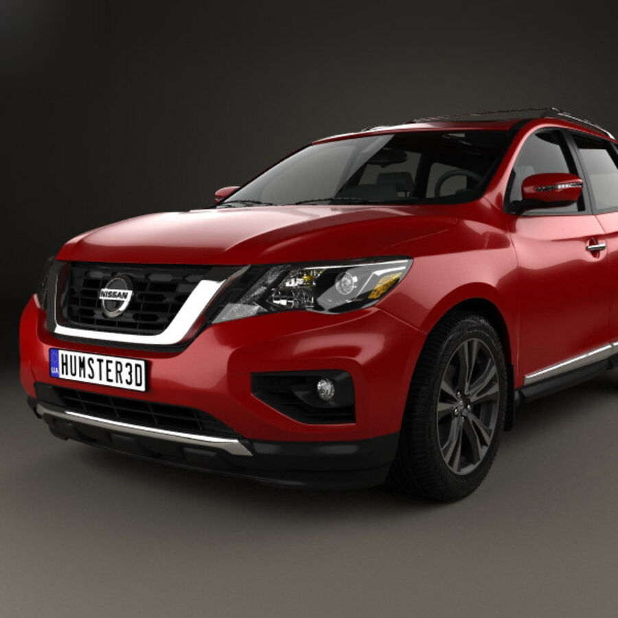 Nissan Pathfinder 2017 royalty-free 3d model - Preview no. 6