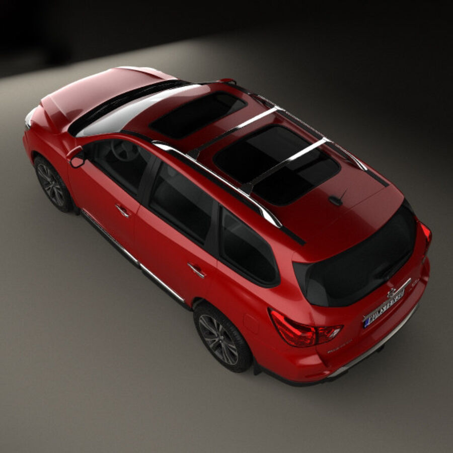 Nissan Pathfinder 2017 royalty-free 3d model - Preview no. 9
