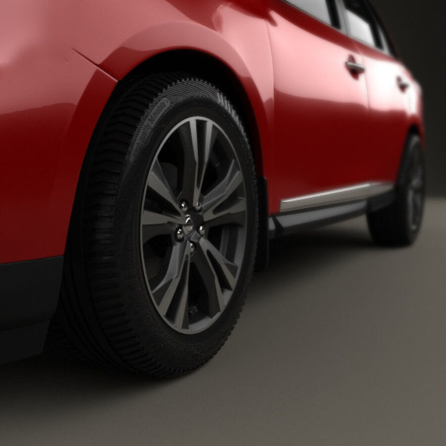 Nissan Pathfinder 2017 royalty-free 3d model - Preview no. 8