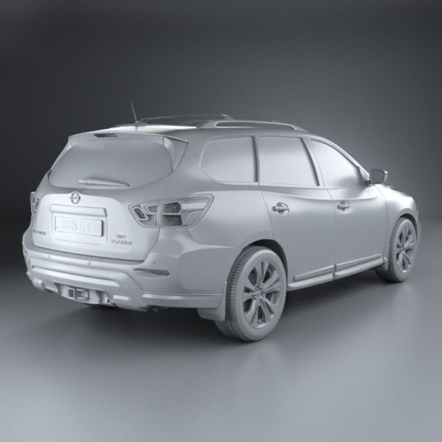 Nissan Pathfinder 2017 royalty-free 3d model - Preview no. 12