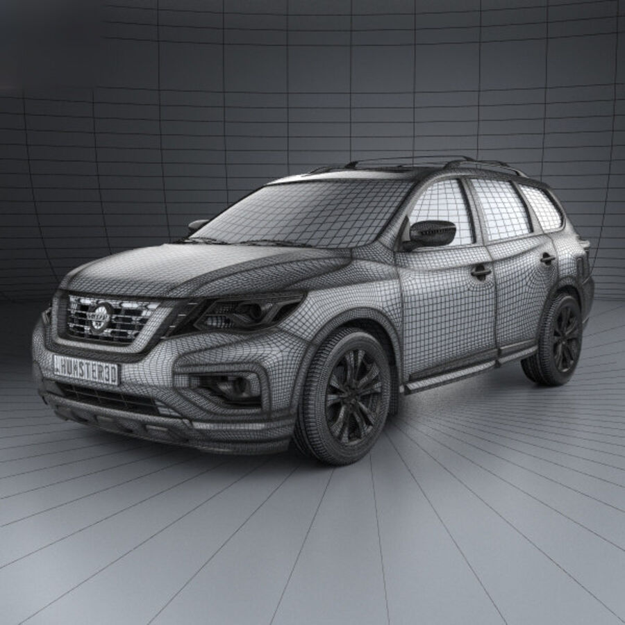 Nissan Pathfinder 2017 royalty-free 3d model - Preview no. 3