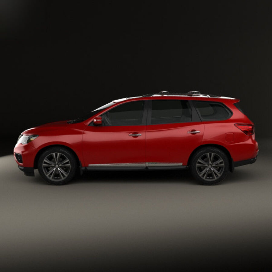 Nissan Pathfinder 2017 royalty-free 3d model - Preview no. 5