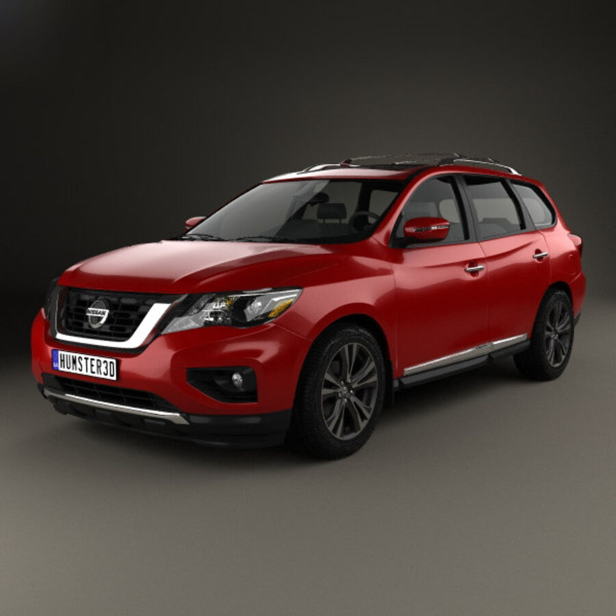 Nissan Pathfinder 2017 royalty-free 3d model - Preview no. 1