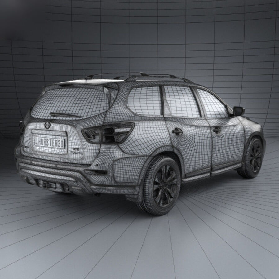 Nissan Pathfinder 2017 royalty-free 3d model - Preview no. 4