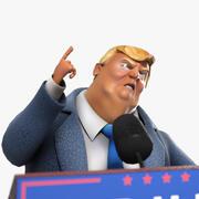 Karikatür Donald Trump 3d model
