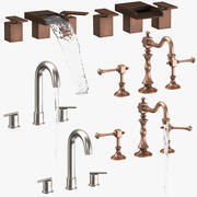 Sink Fixtures Collection 3d model