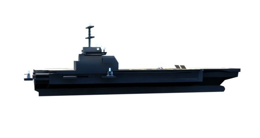 Aircraft Carrier(1) royalty-free 3d model - Preview no. 18