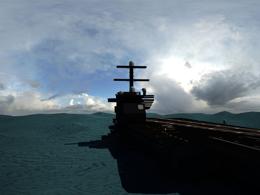 Aircraft Carrier(1) royalty-free 3d model - Preview no. 3