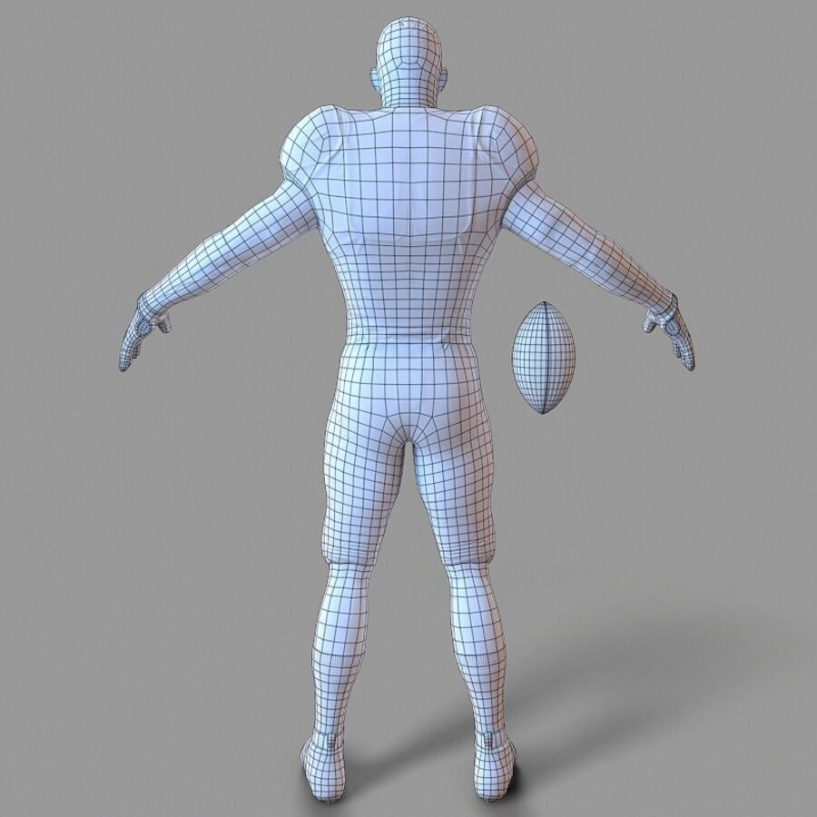Jugador de fútbol americano Lowpoly royalty-free modelo 3d - Preview no. 14