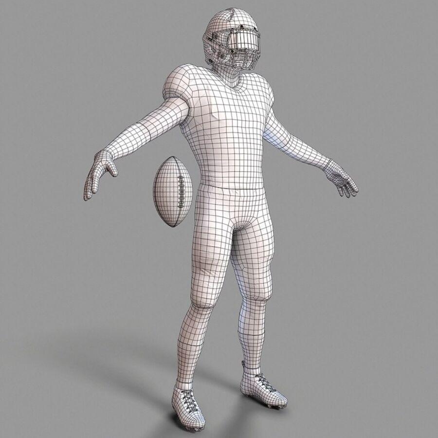 Jugador de fútbol americano Lowpoly royalty-free modelo 3d - Preview no. 10
