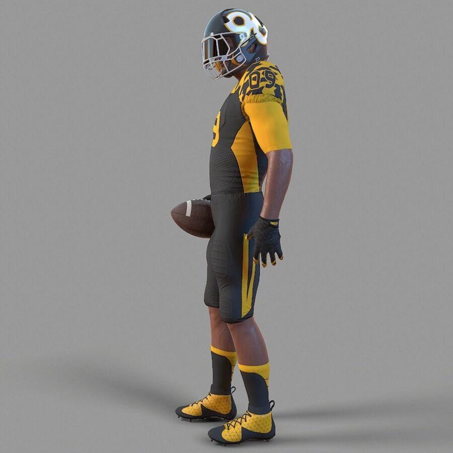 Jugador de fútbol americano Lowpoly royalty-free modelo 3d - Preview no. 6