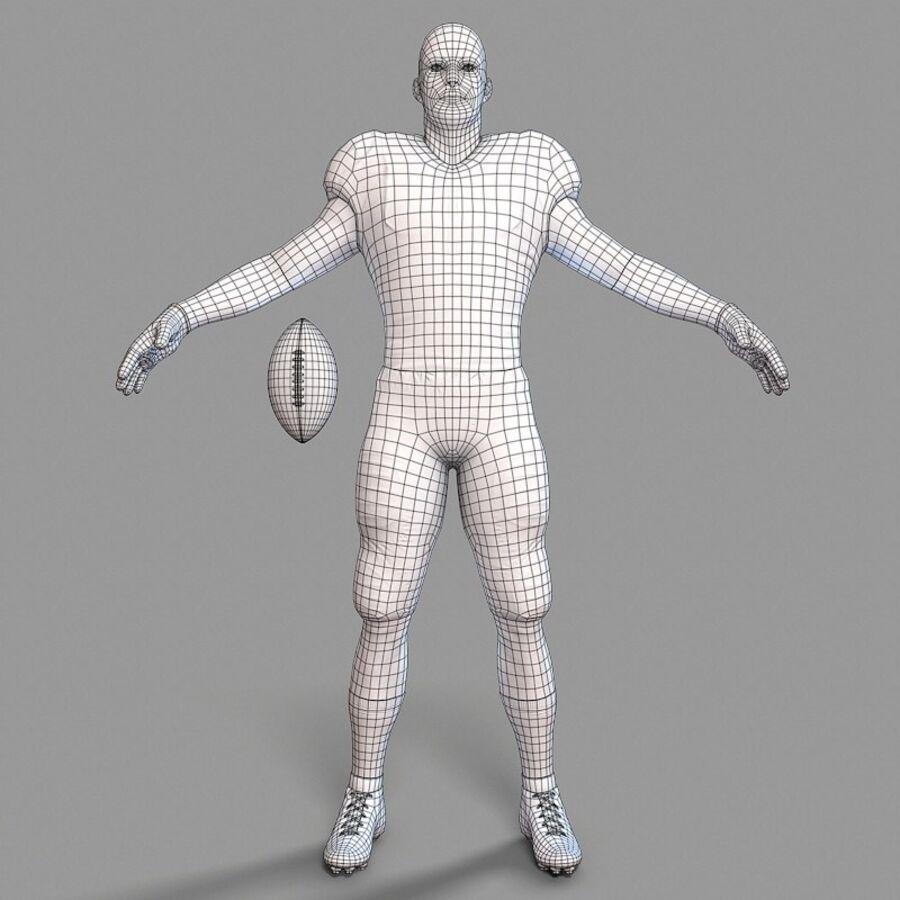 Jugador de fútbol americano Lowpoly royalty-free modelo 3d - Preview no. 12