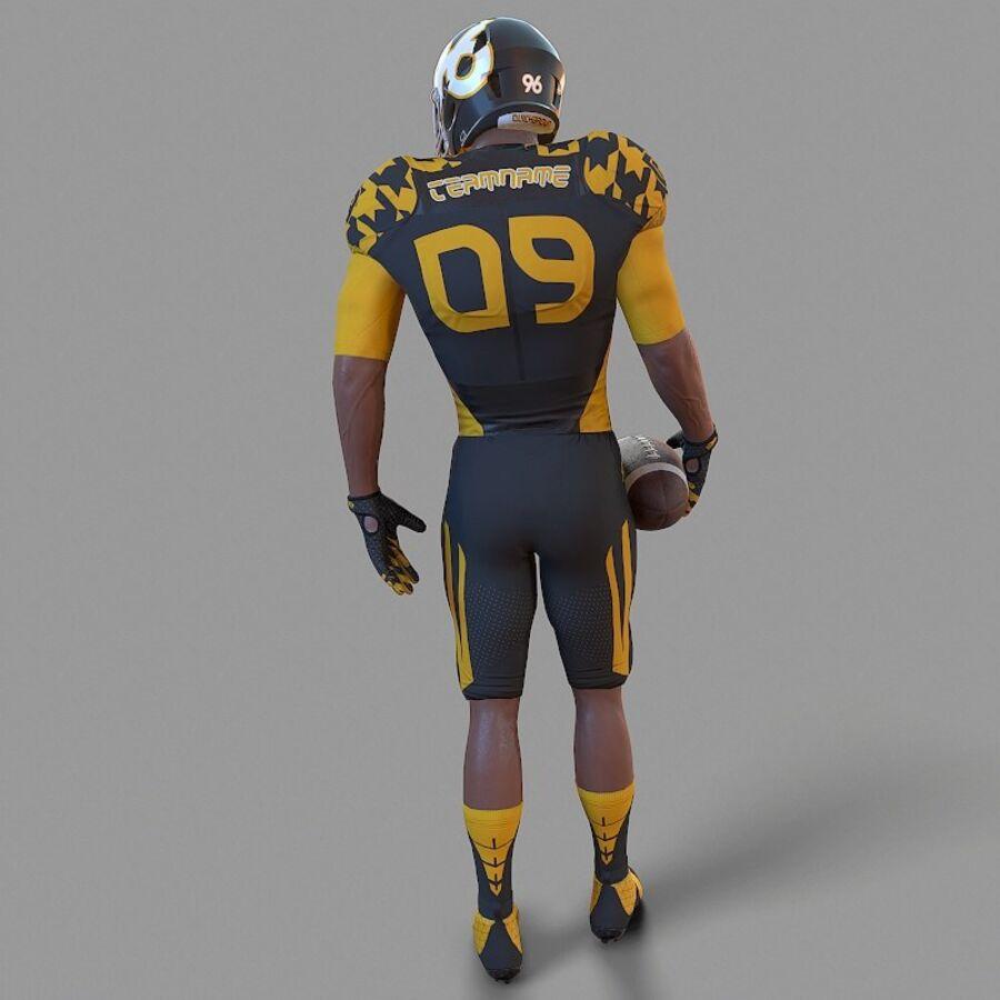 Jugador de fútbol americano Lowpoly royalty-free modelo 3d - Preview no. 5