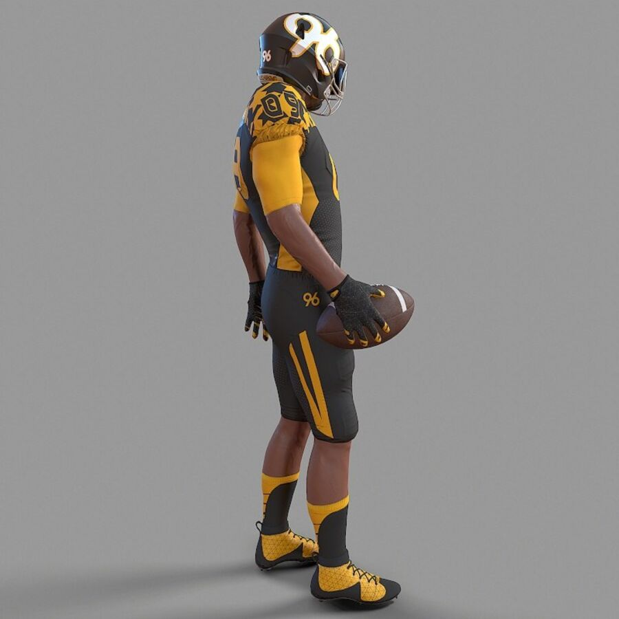 Jugador de fútbol americano Lowpoly royalty-free modelo 3d - Preview no. 4