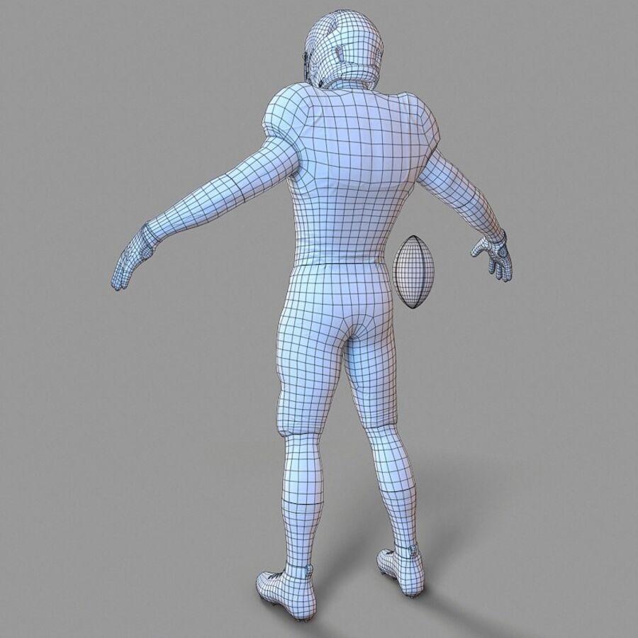 Jugador de fútbol americano Lowpoly royalty-free modelo 3d - Preview no. 11