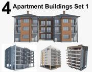 Apartment Buildings Set 1 3d model