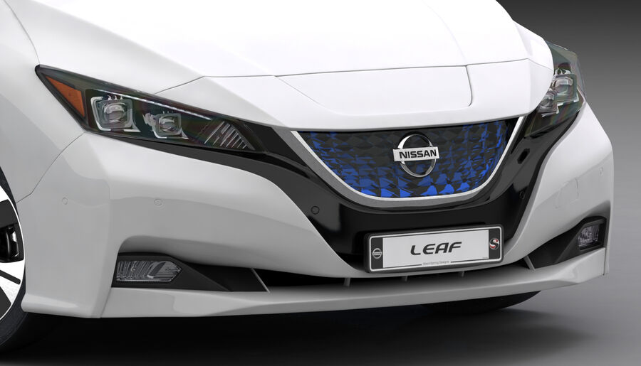 Nissan Leaf 2019 royalty-free modelo 3d - Preview no. 17