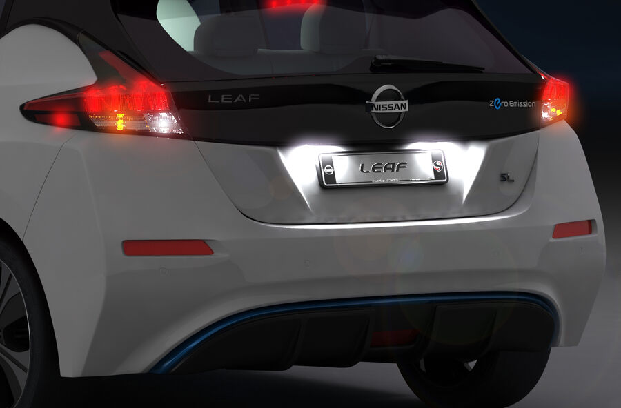 Nissan Leaf 2019 royalty-free modelo 3d - Preview no. 21