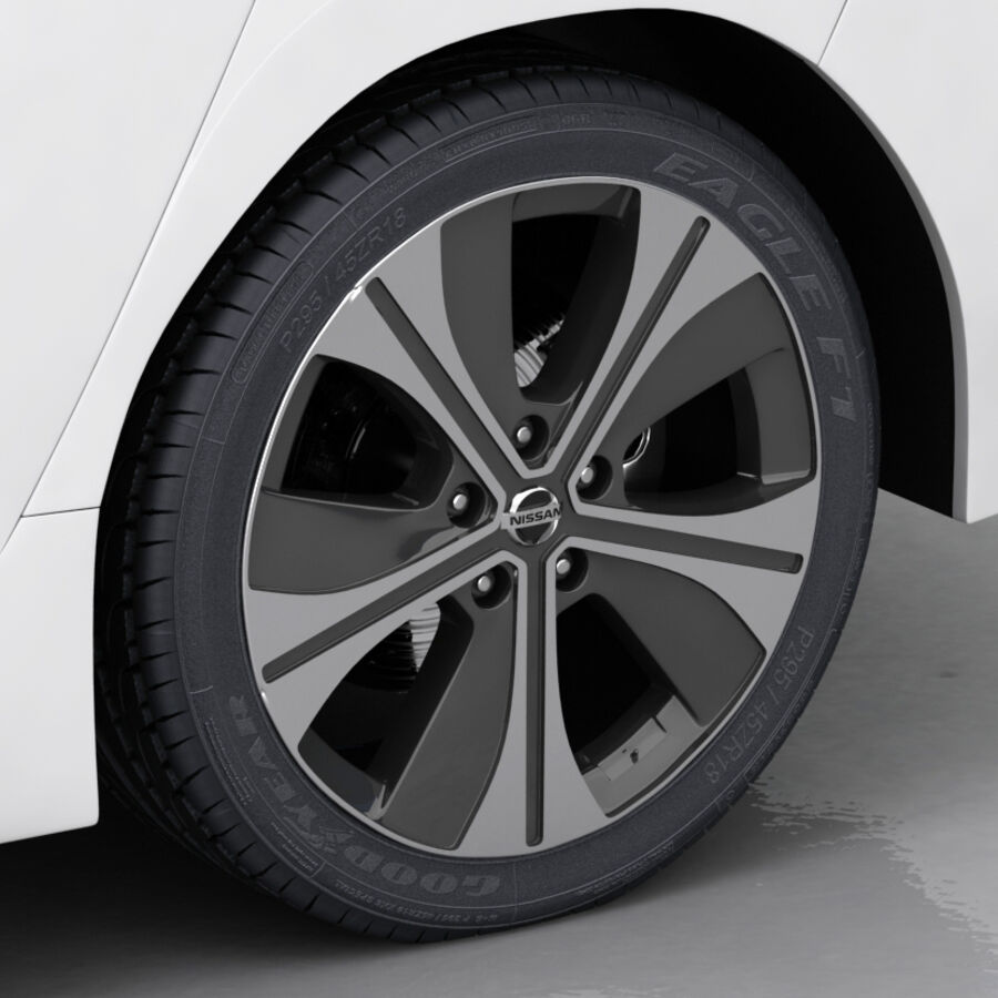 Nissan Leaf 2019 royalty-free modelo 3d - Preview no. 19