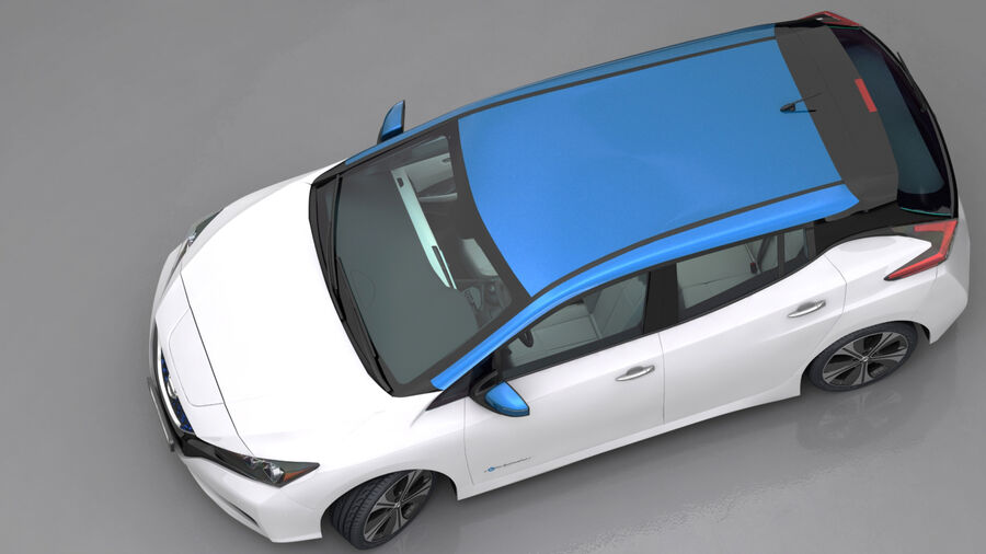 Nissan Leaf 2019 royalty-free modelo 3d - Preview no. 4