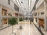 Luxury interior mall scene 3d model