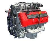 V8エンジン 3d model