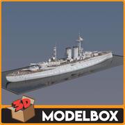 Queen Elizabeth Battleship 3d model